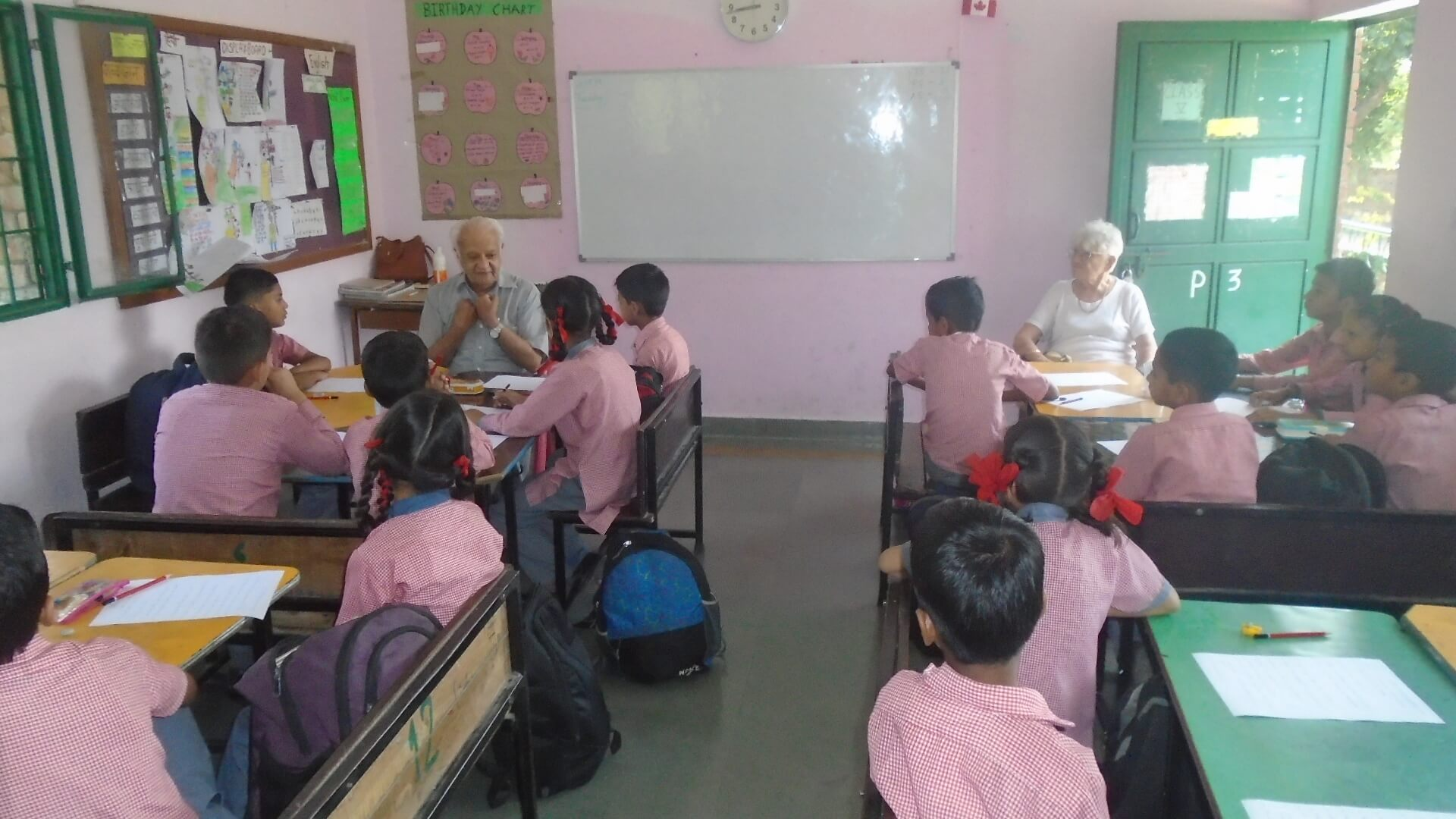 English skills classes by Mrs. and Mr. Surinder Madan
